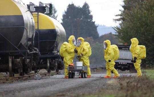 HAZMAT Team Members Discusses Chemical Disaster