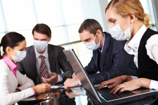 Working during flu epidemy