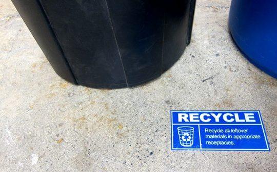 floor sign, informational label
